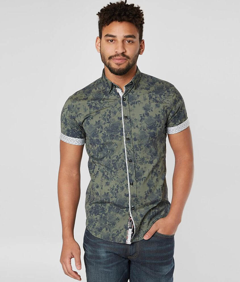 Eight X Floral Stretch Shirt front view