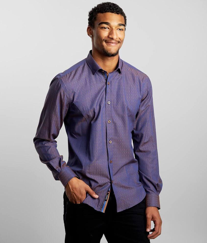 Eight X Iridescent Jacquard Shirt front view