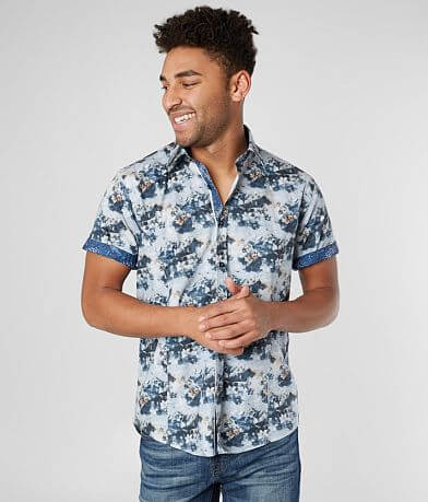 Eight X Washed Floral Stretch Shirt