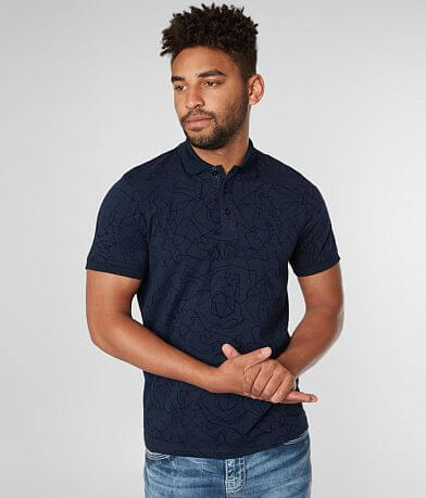 Eight X Flocked Stretch Polo