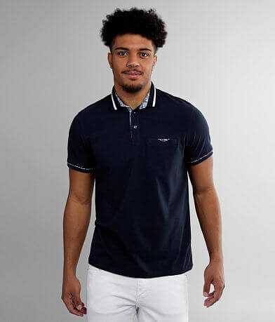 Eight X Solid Knit Stretch Polo