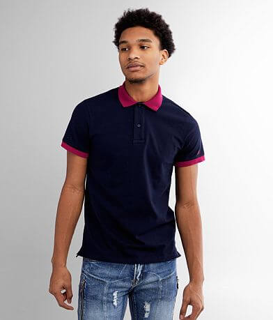 Eight X Color Block Stretch Polo