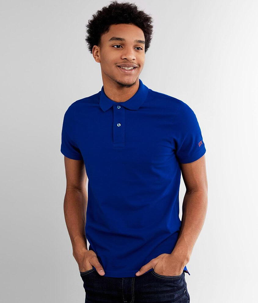 Eight X Solid Stretch Polo front view