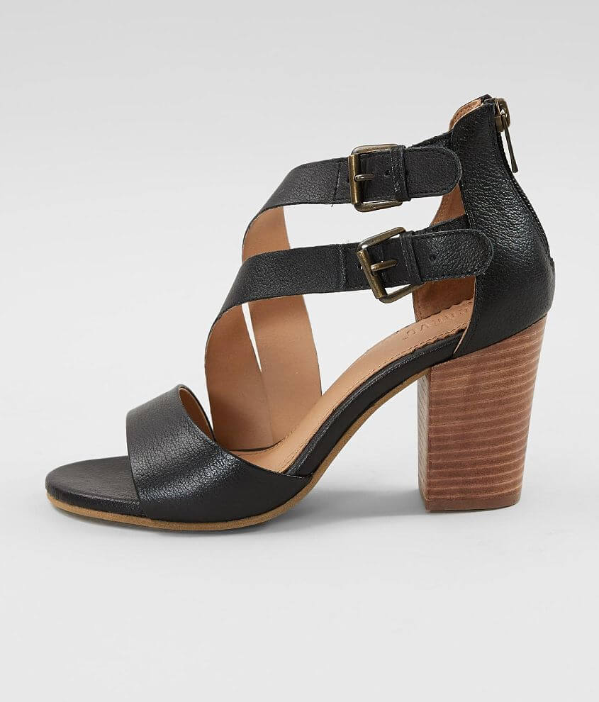 Crevo Tallulah Leather Heeled Sandal front view