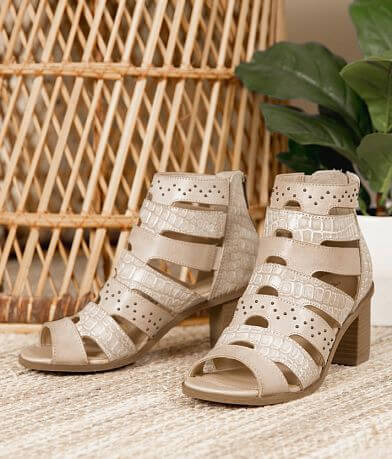 Gimmicks Studded Leather Heeled Sandal