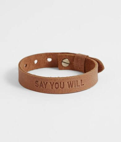 Elevate Say You Will Leather Bracelet