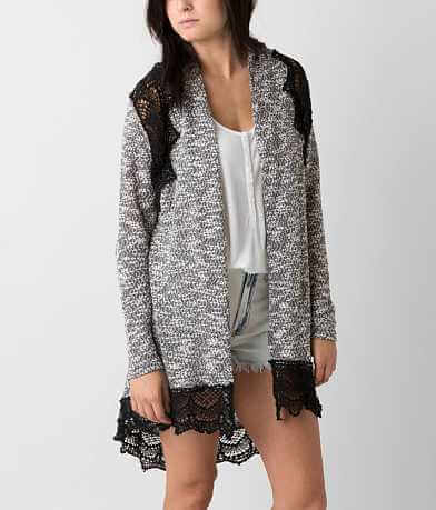 Rain Open Weave Cardigan Sweater