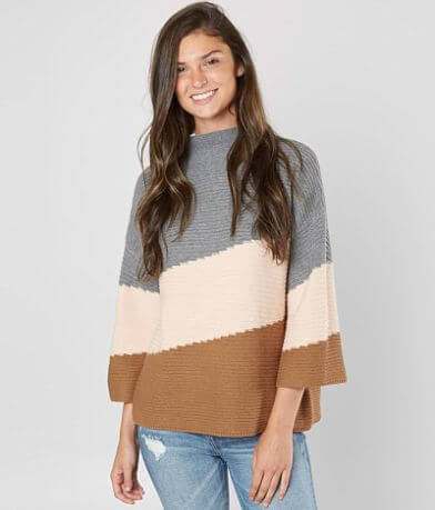 rain + rose Color Block Sweater