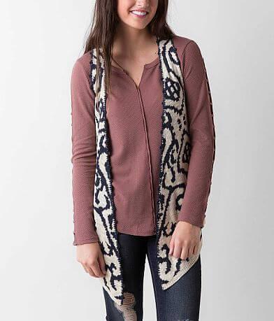 Rain Open Weave Sweater Vest