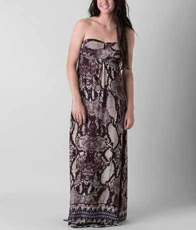 En Crème Printed Tube Top Maxi Dress