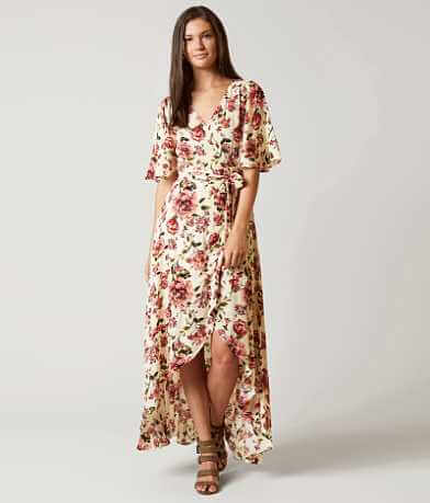 En Crème Wrap Maxi Dress