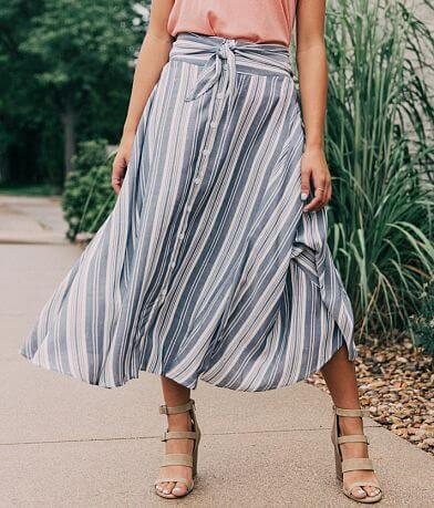 the room Striped Midi Skirt