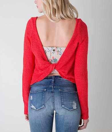 En Crème Open Weave Sweater