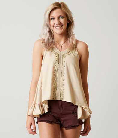 En Crème Beaded Tank Top