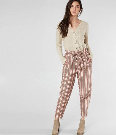 En Creme Striped Taper Pant