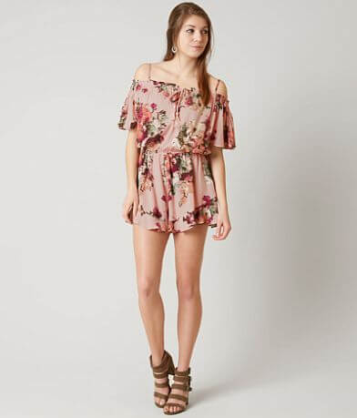 willow & root Floral Romper