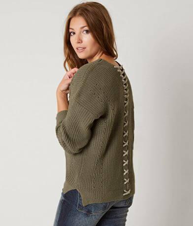 En Crème Ribbed Sweater
