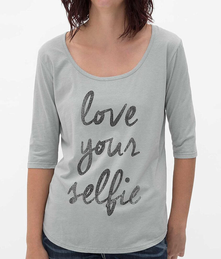 Retro Brand Love Your Selfie T-Shirt front view