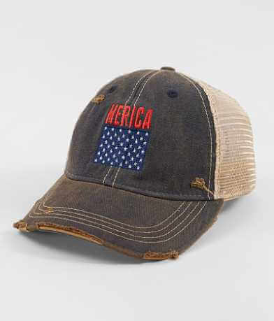 Distant Replays Merica Baseball Hat