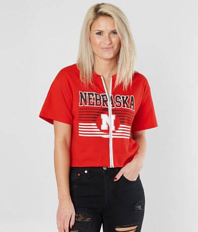 Retro Brand Nebraska Huskers Cropped T-Shirt