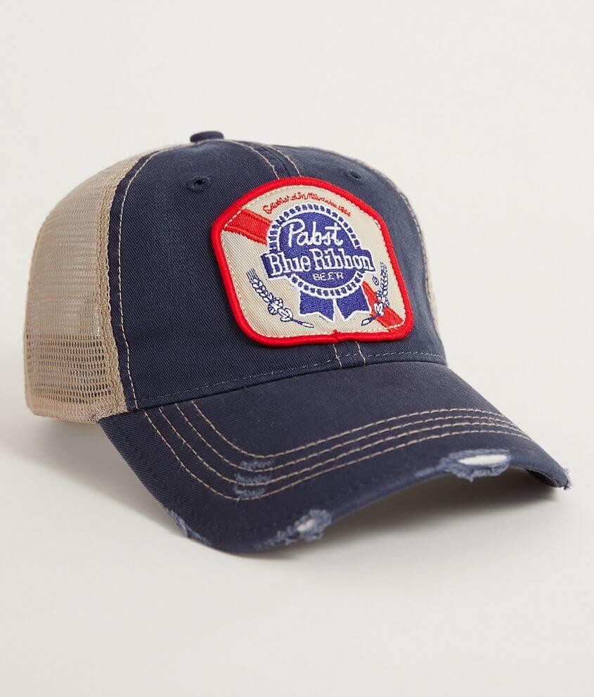 Distant Replays Pabst Trucker Hat - Men s Hats in Navy  8d215edc385