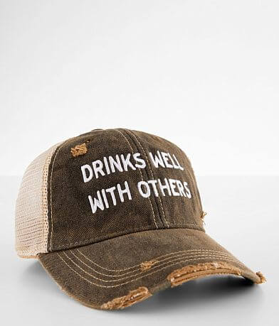 Retro Brand Drinks Well With Others Baseball Hat