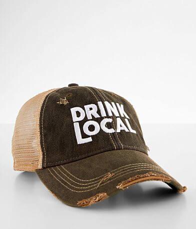 Retro Brand Drink Local Destructed Baseball Hat