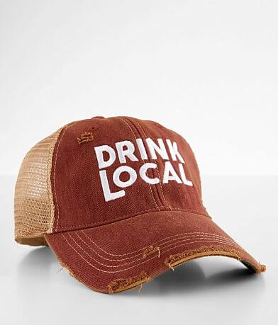 Retro Brand Drink Local Destructed Baseball Hat