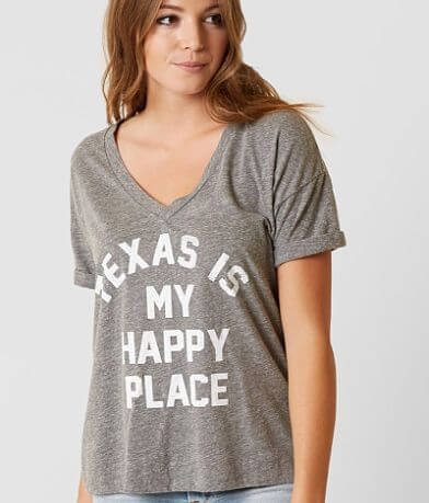 Retro Brand Texas Is My Happy Place T-Shirt