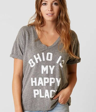 Retro Brand Ohio Is My Happy Place T-Shirt