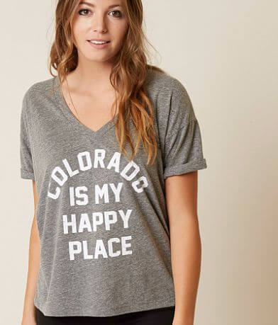 Retro Brand Colorado Is My Happy Place T-Shirt