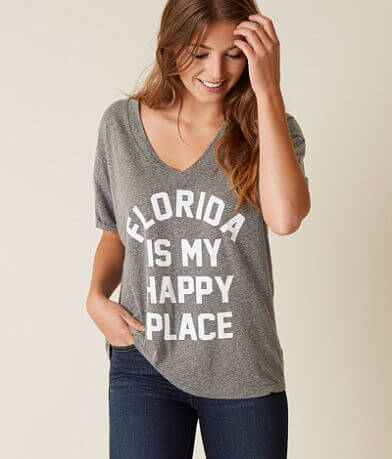 Retro Brand Florida Is My Happy Place T-Shirt