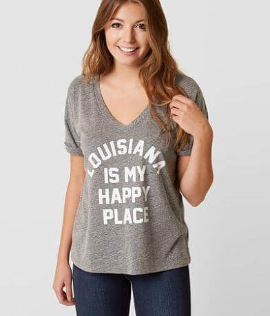 Retro Brand Louisiana Is My Happy Place T-Shirt