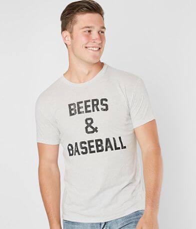 Retro Brand Beers & Baseball T-Shirt