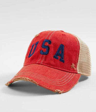 580ec24ef08a9 Retro Brand USA Distressed Baseball Hat