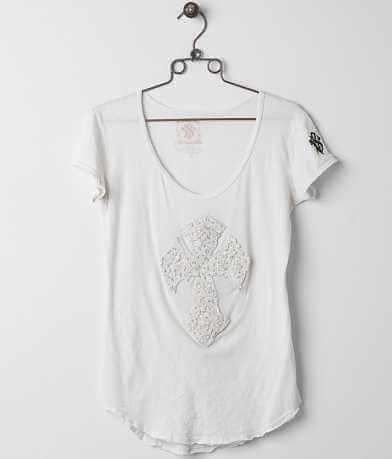 Velvet Stone Diamond Floral T-Shirt