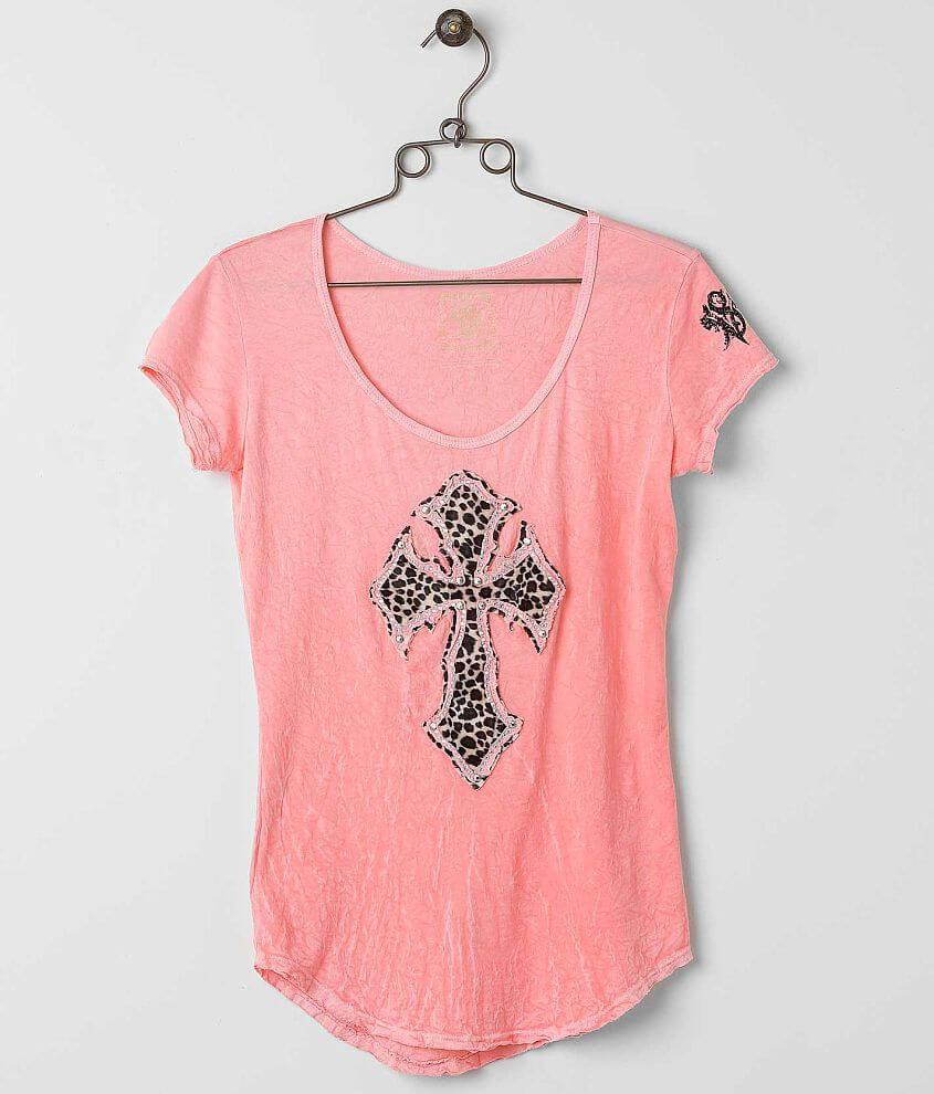 Velvet Stone Cheetah Madonna T-Shirt front view