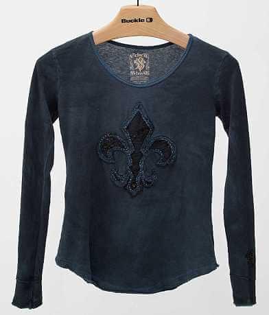 Velvet Stone Lace & Pearls T-Shirt