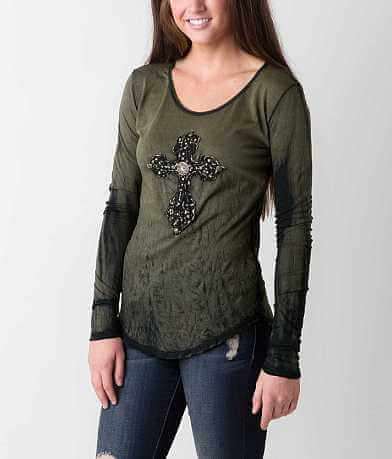 Velvet Stone Scrolled Cheetah T-Shirt