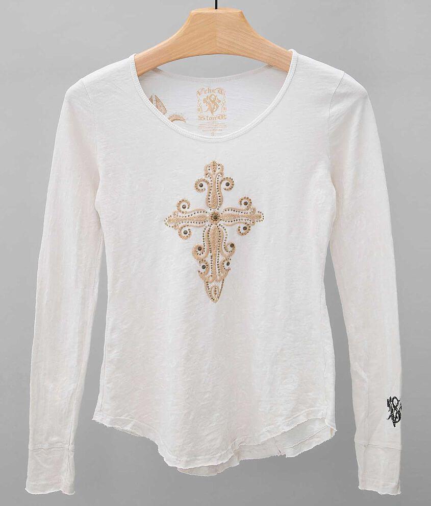 Velvet Stone Cassidy Cross T-Shirt front view