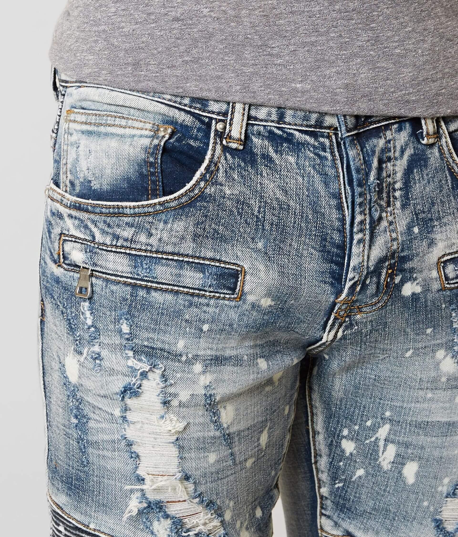 8874a3ae DOPE Carson Moto Stretch Jean - Men's Jeans in Blue | Buckle