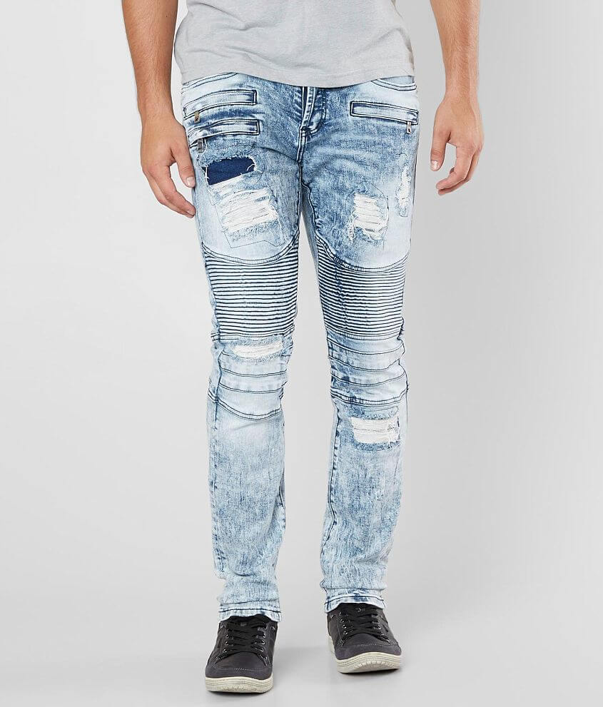 DOPE Carcia Moto Stretch Jean front view