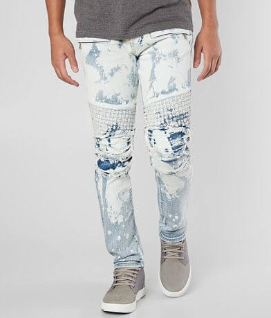 DOPE Nicks Bleached Moto Stretch Jean
