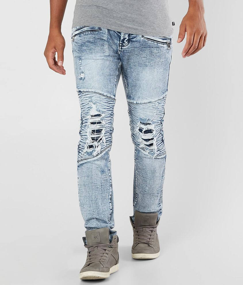7f251d1d DOPE Page Moto Stretch Jean - Men's Jeans in Blue | Buckle