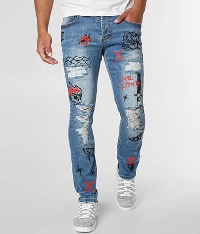 DOPE Graffiti Moto Taper Stretch Jean