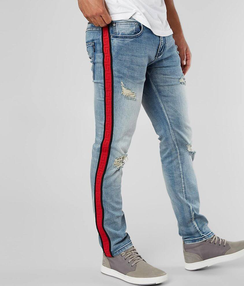 DOPE Red Line Taper Stretch Jean front view