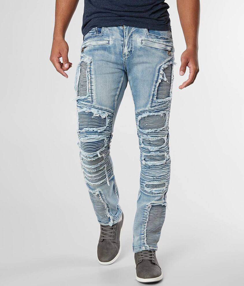 DOPE Savage Moto Taper Stretch Jean front view