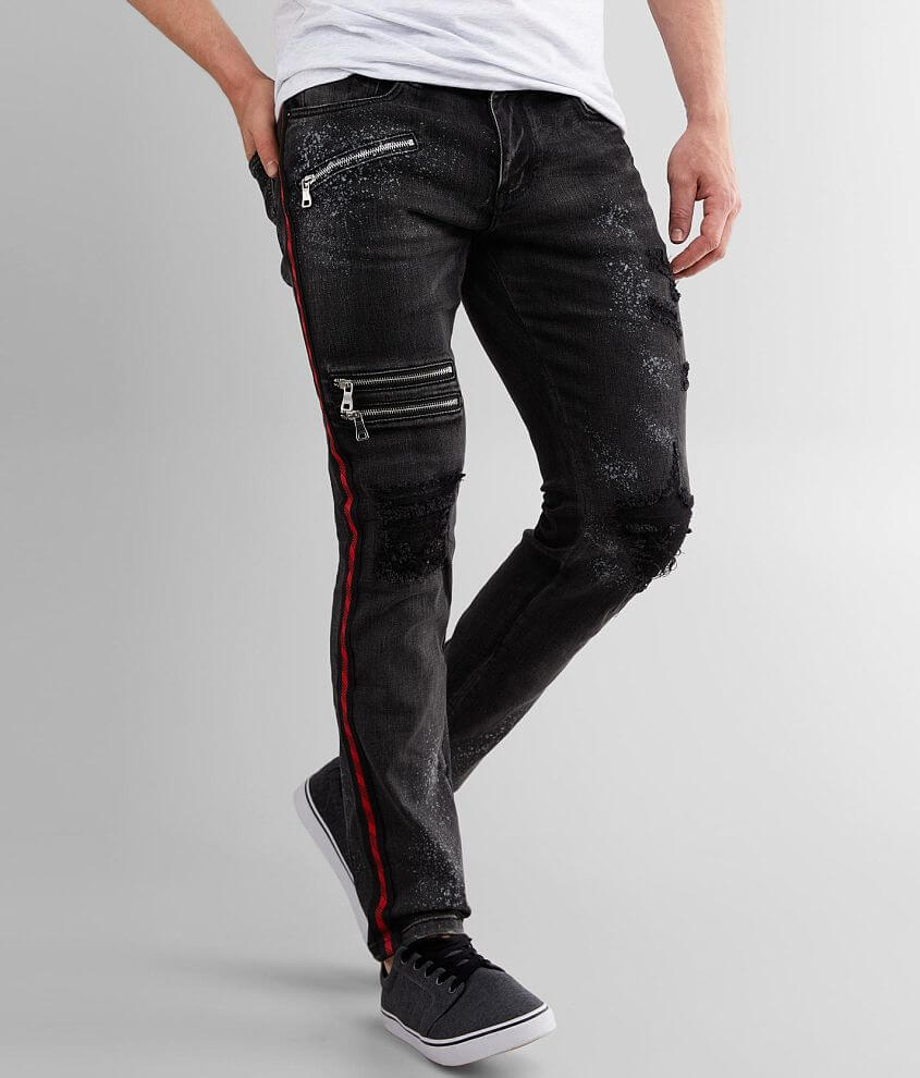 DOPE Night Spray Taper Stretch Jean front view