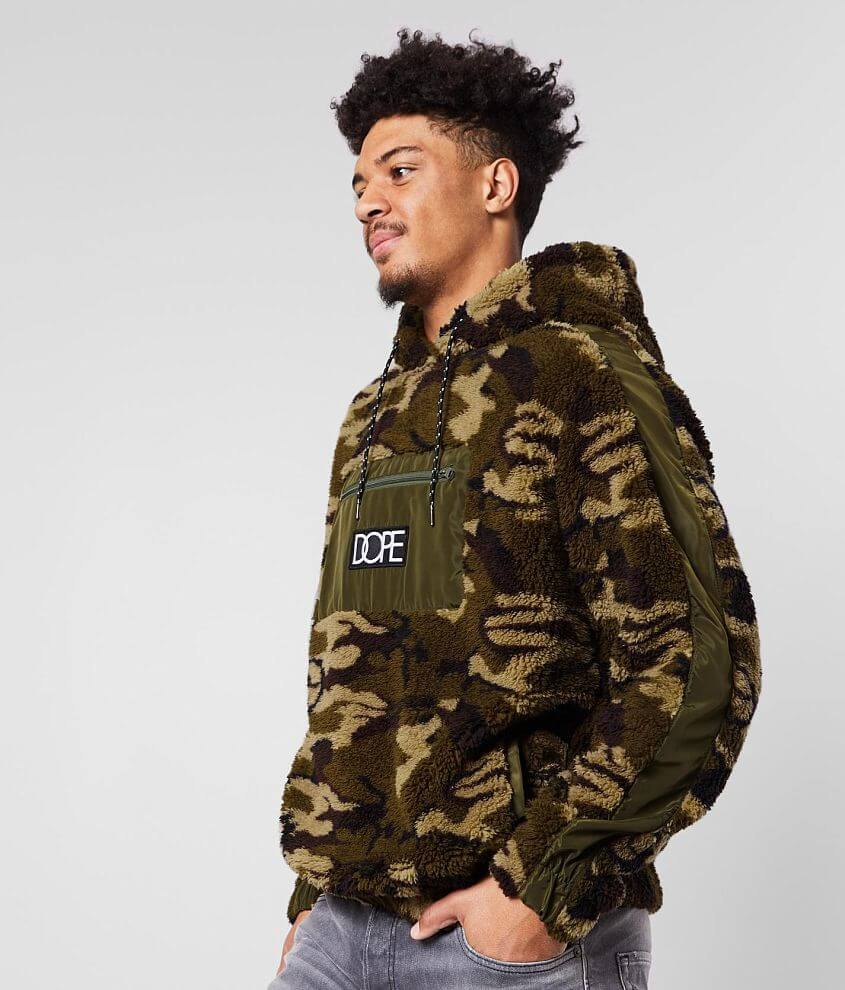 DOPE Camo Sherpa Hoodie front view