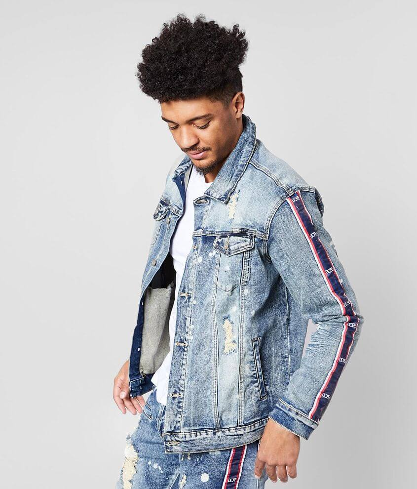 DOPE Stripe Washed Jacket front view